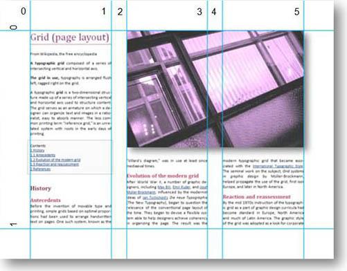 w3.org example image of multi-column grid